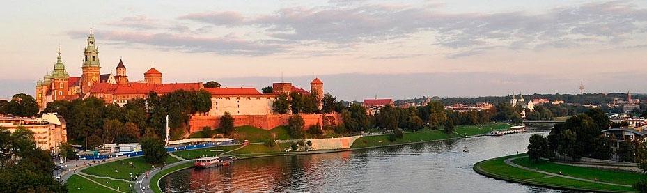 Kraków - widok na Wawel i Wisłę